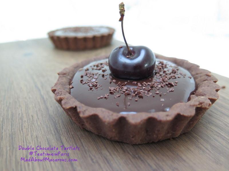 double chocolate tartlets recipe teatime in paris