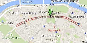 Paris map of Rue Saint Dominique