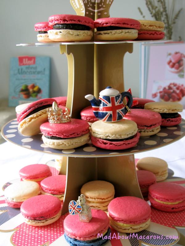 Royal macarons tiered stand