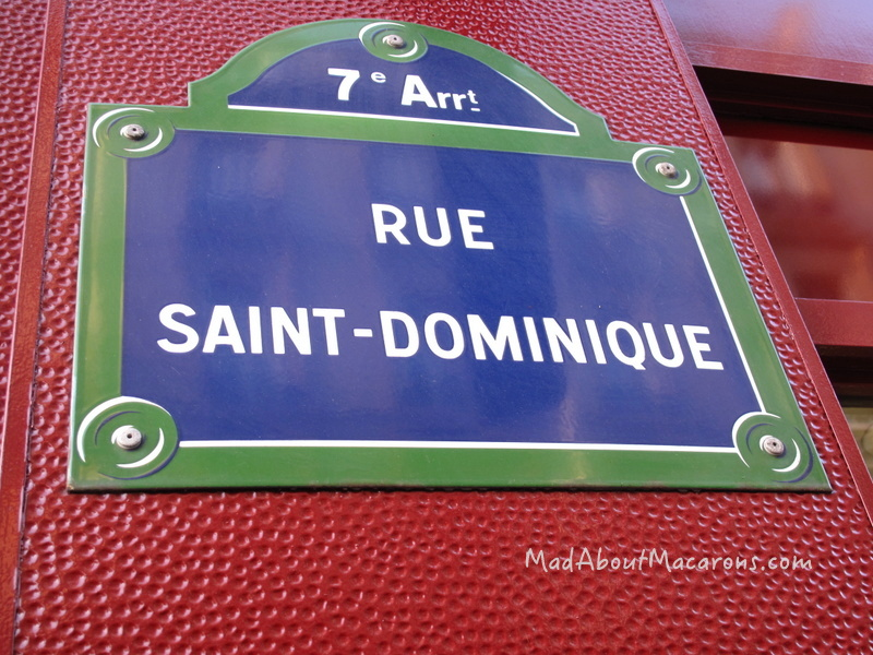 Street Sign Paris of Rue St Dominique