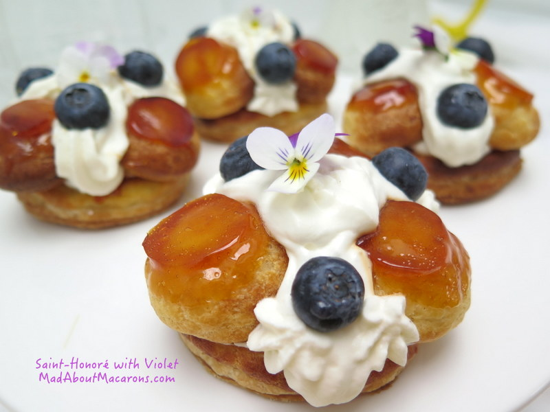Saint Honoré pastry cake