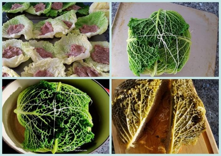 choux farci or French stuffed Cabbage recipe