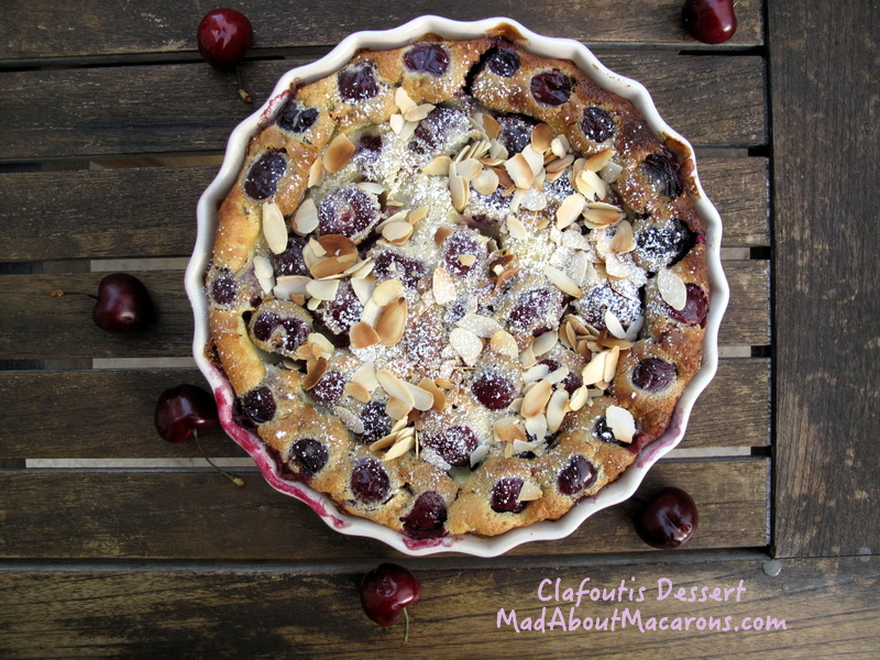 French clafoutis cherry baked custard dessert