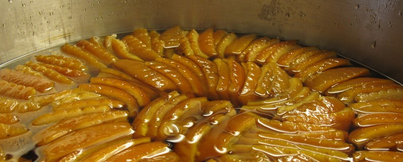 Orangettes (Candied Orange Peels) Recipe — Dishmaps
