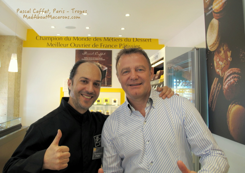Pascal Caffet and Charles at the Paris patisserie in rue Duban