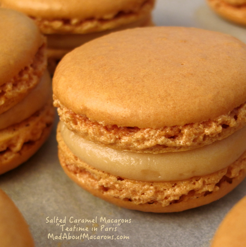 Salted Caramel Macarons from Teatime in Paris