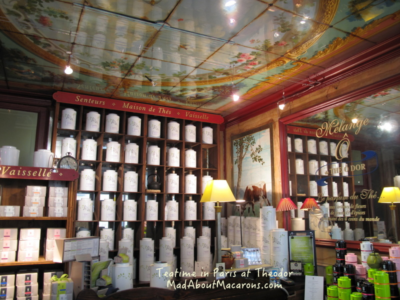 Theodor tea shop in Paris Trocadero