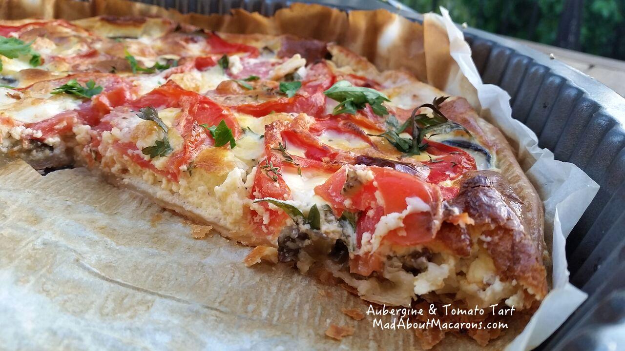 Aubergine and tomato tart recipe