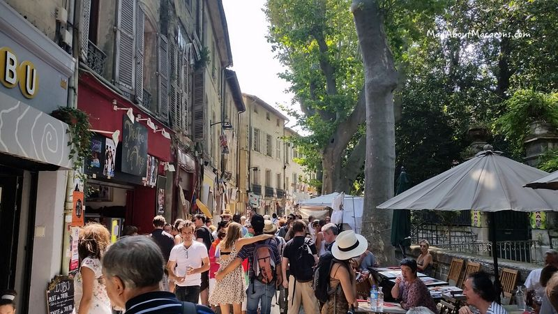 Avignon festival summer streets