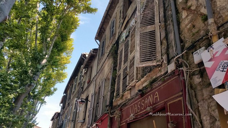 Old buildings in Avignon France