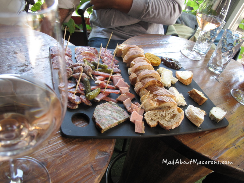 ham and cheese platter in Provence