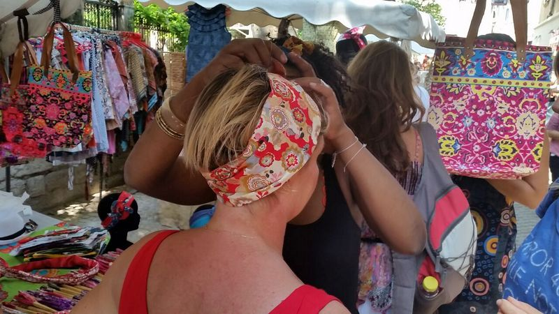 Head band stall shops in Avignon festival