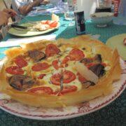 aubergine tomato filo tart