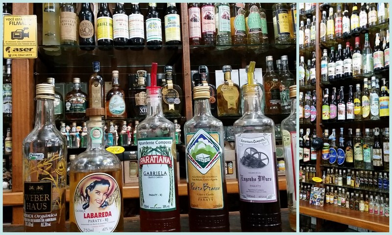 Cachaca store in Paraty