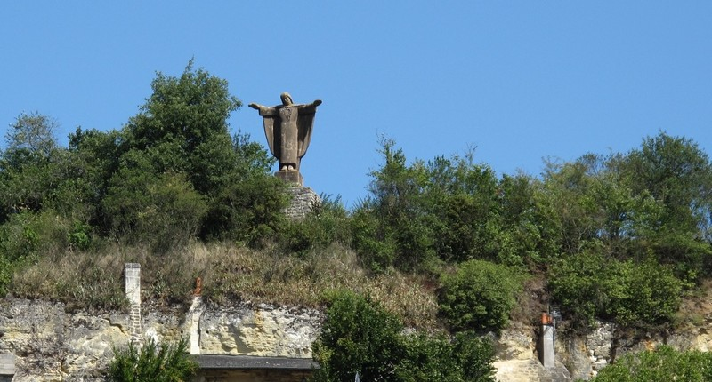 Christ statue in Chinon Loire