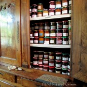 Jam cupboard at the Diderot Hotel Chinon