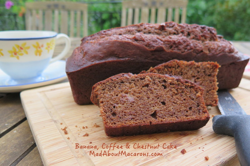banana coffee cake with chestnut flour gluten free reduced sugar recipe