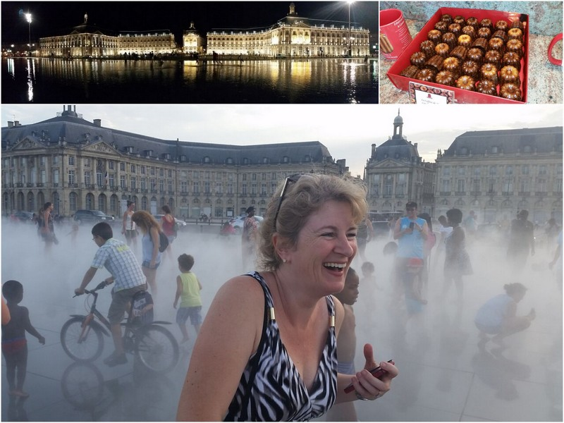 Letting off steam with Christina's Cucina in Bordeaux miroir d'eau