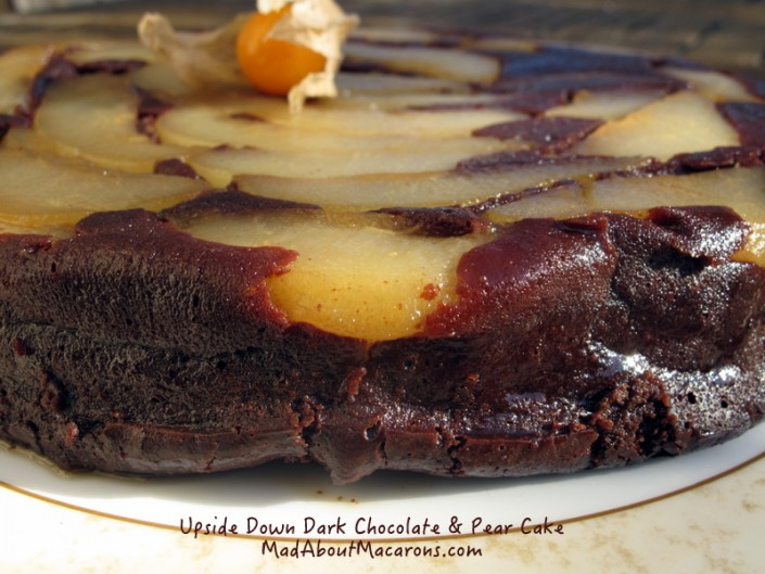 dark chocolate pear cake
