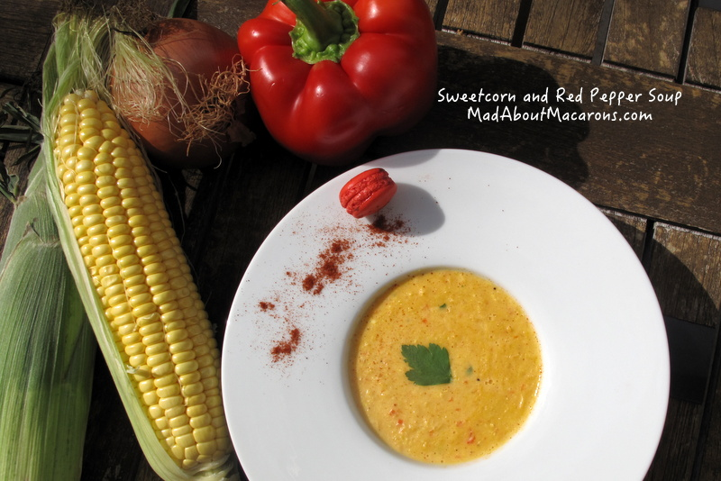 Sweetcorn and red pepper cream soup recipe