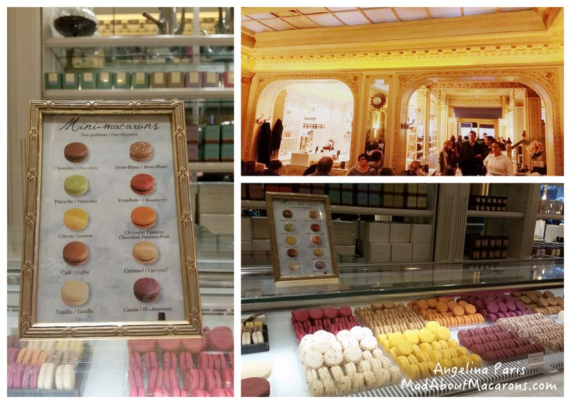Angelina Tea room rue de Rivoli Paris macarons