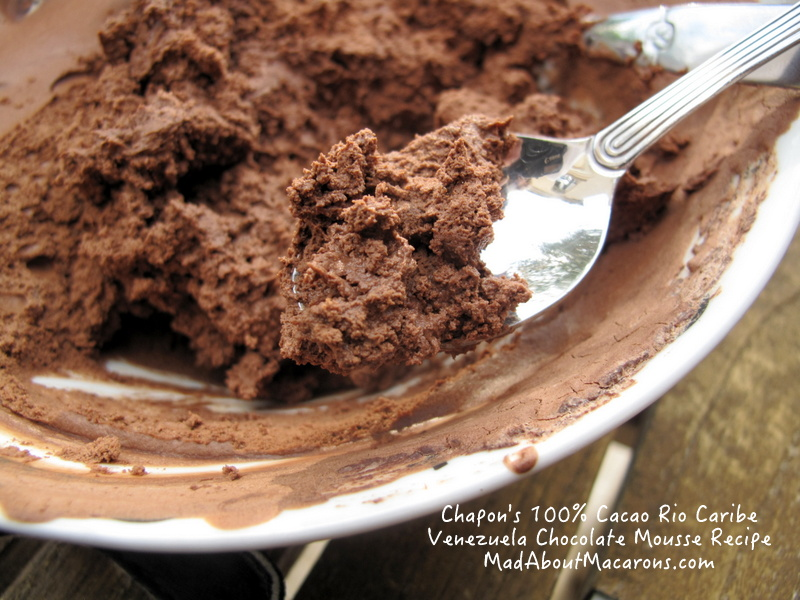 Chapon Paris Chocolate Mousse Recipe pure cacao