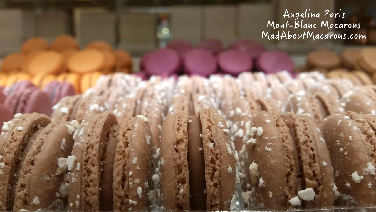 Parisian Mont-Blanc macarons from Angelina