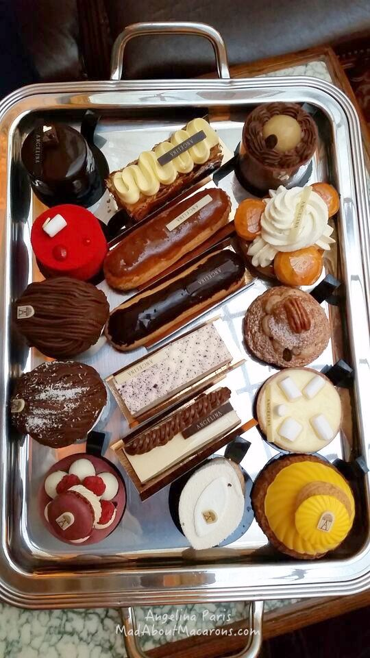 pastry collection platter at Angelina Paris