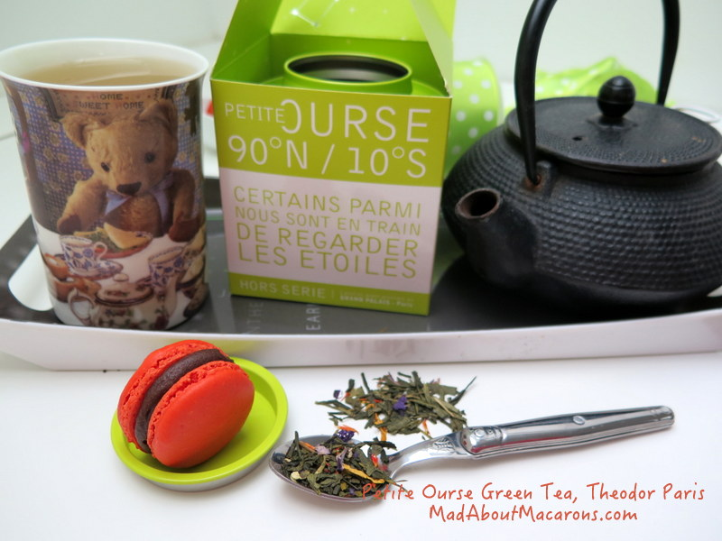 Petite Ourse fragranced green tea from Theodor Paris with macaron