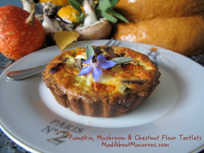 Pumpkin sage mushroom and chestnut tart recipe