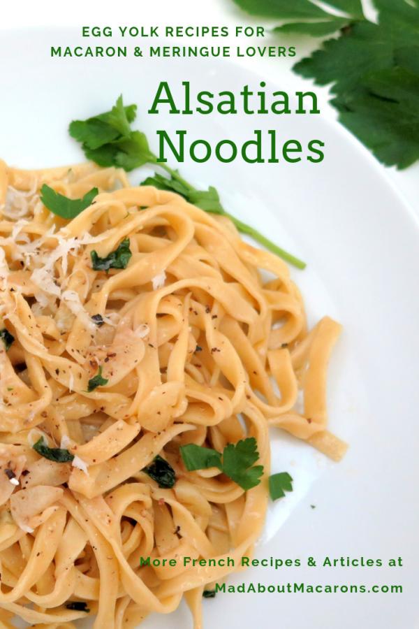 Alsatian noodles egg yolk recipe
