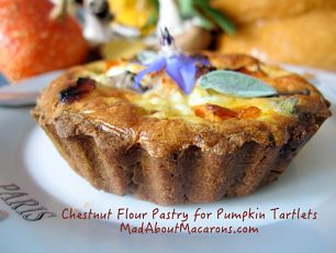 chestnut flour pumpkin and mushroom tarts