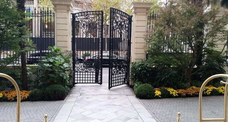 Cast iron original gates to Prince Roland Bonaparte's Palace, Shangri-La Hotel Paris