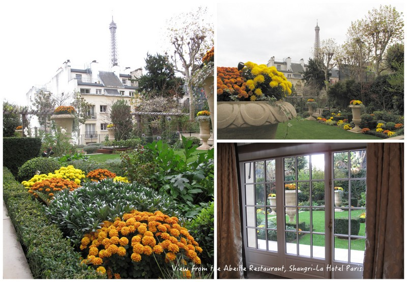 Gardens at the Iena Palace overlooked by the Eiffel Tower Paris
