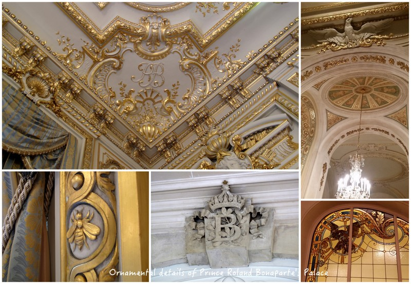Prince Roland Bonaparte's ornamental symbols in the Palace Iena