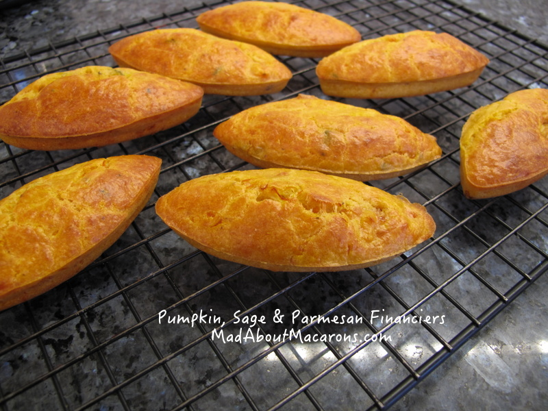Pumpkin financiers, French savoury cakes