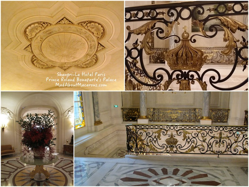 Shangri-La Paris Hotel original marble from Prince Roland Bonaparte's Palace
