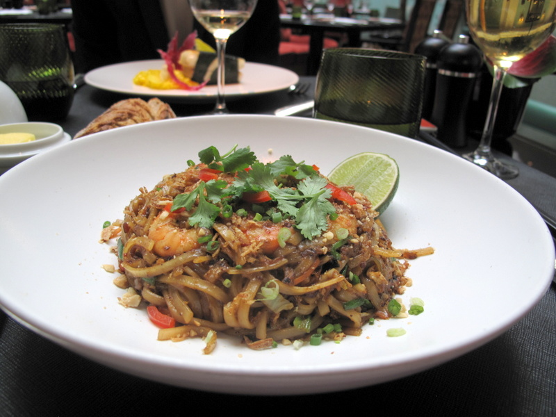 Shrimp Pad Thai from the Shangri-La Paris