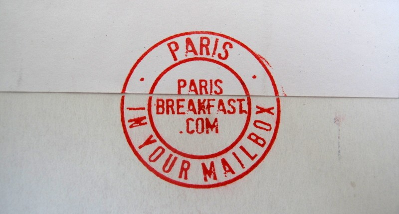 Paris Breakfasts in your mailbox