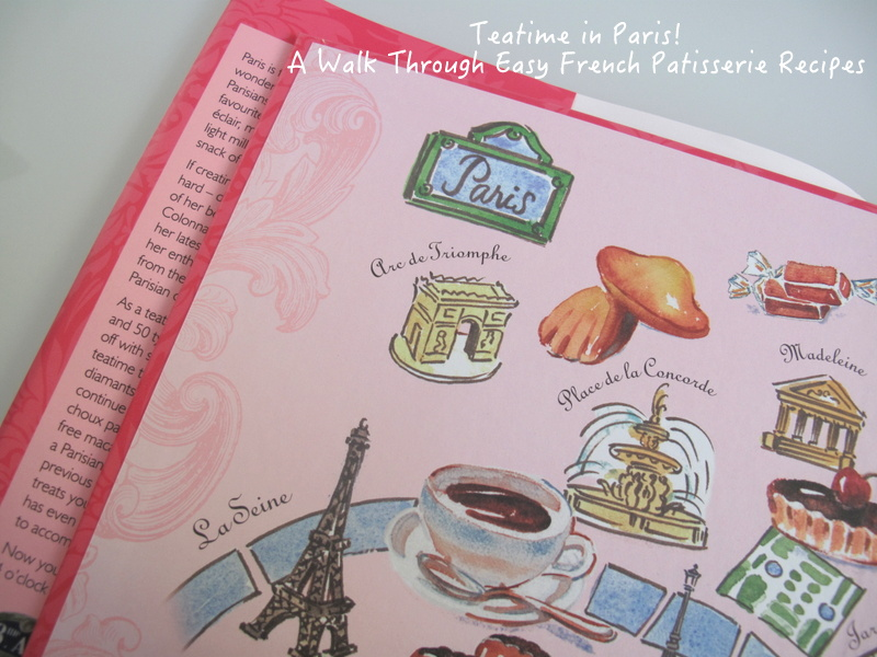 Teatime in Paris endpapers map watercolour by Carol Gillott