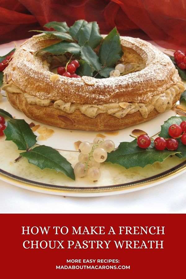 How to make a Choux pastry Christmas Wreath