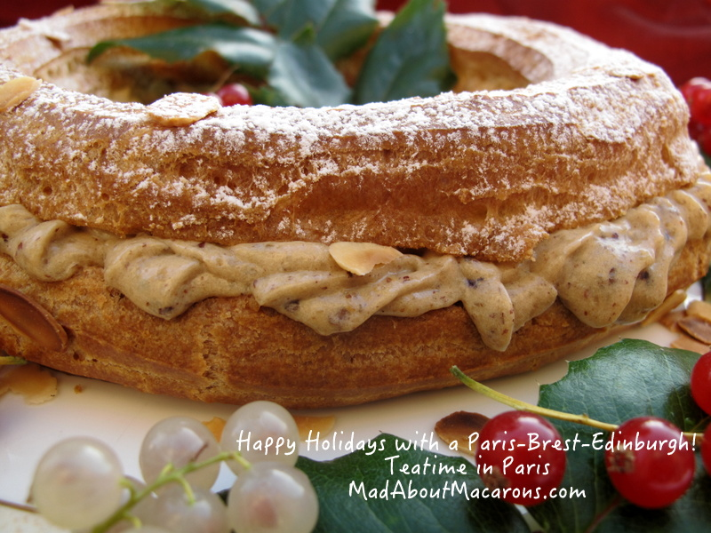 Paris-Brest-Edinburgh from Teatime in Paris Jill Colonna, Christmas pastry ring