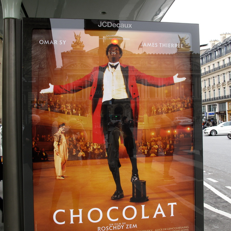 Chocolat French film Paris advert