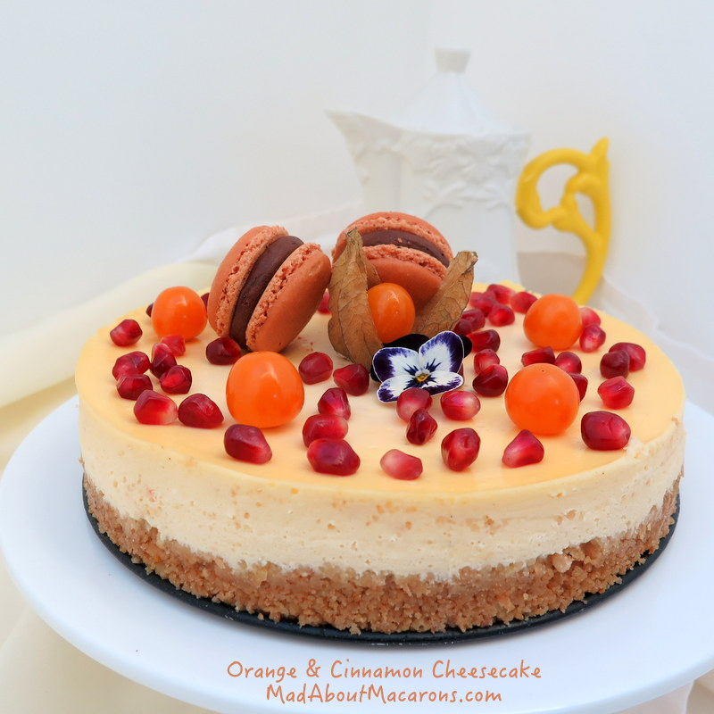 orange-cinnamon cheesecake