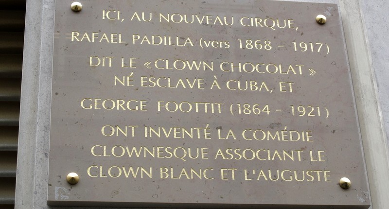 Mandarin Oriental Paris plaque Foottit et Chocolat Paris clowns