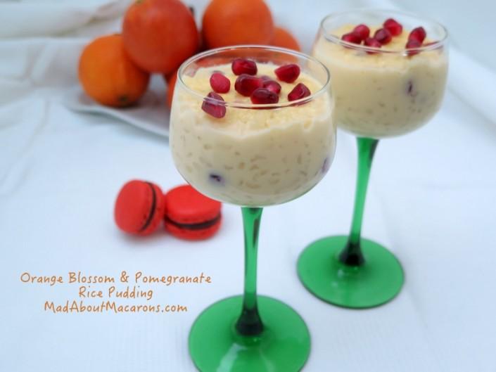 orange blossom and pomegranate valentine rice pudding recipe