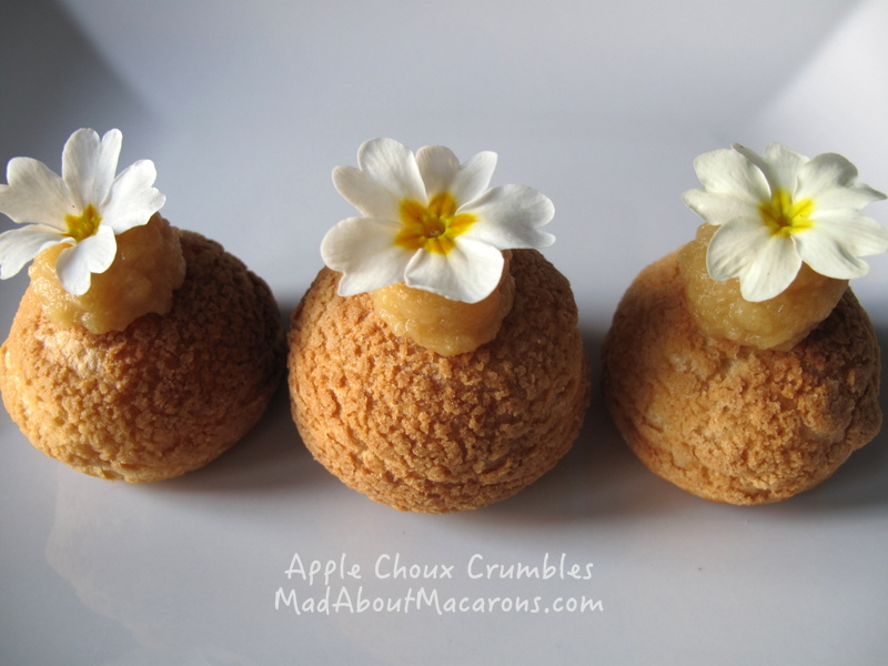 French Apple choux crumbles