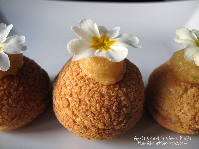 apple crumble French choux presentation - Teatime in Paris by Jill Colonna