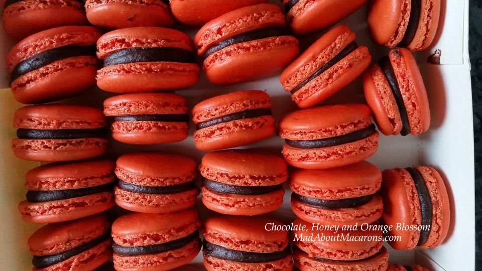 Chocolate and orange blossom macarons Teatime in Paris