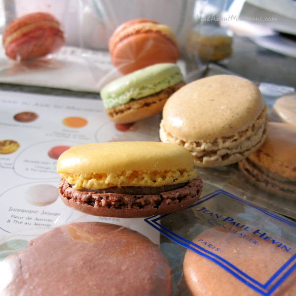 Parisian macarons from Jean-Paul Hevin chocolate